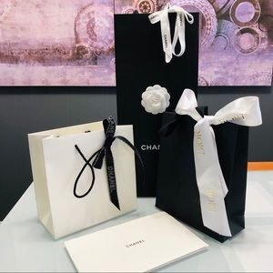 3+1 CHANEL & DIOR Gift Shopping Tote Bags